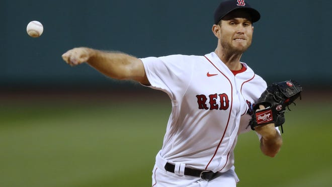 Red Sox starter Ryan Weber, in action against the Blue Jays on Friday night, has given up five home runs in just 10 innings this season and has a 9.90 ERA.