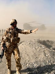 A British soldier in Musa Qala, Afghanistan, in December