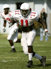 Wendell Brown is shown at Ball State University football