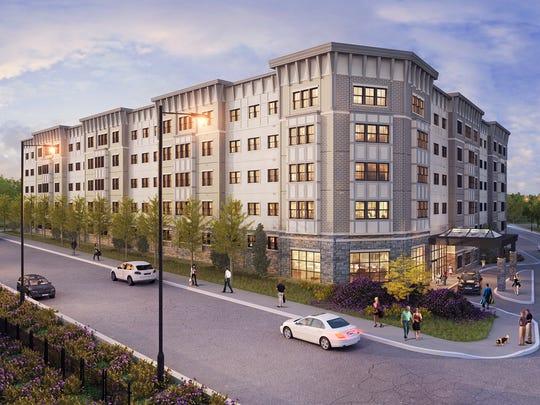 The Orange Avenue luxury-rental community is a transit-oriented