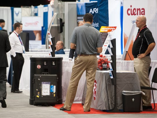 A trade show is part of the Air Force Information Technology