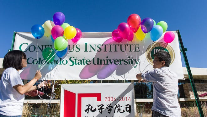 Colorado State University participates in the worldwide celebration of Confucius Institute Day, September 27, 2014. The Confucius Institute at Colorado State University's mission is to  promote Chinese language and culture teaching and learning, promote scientific research on water and environmental sustainability, and develop educational exchanges between China and Colorado.