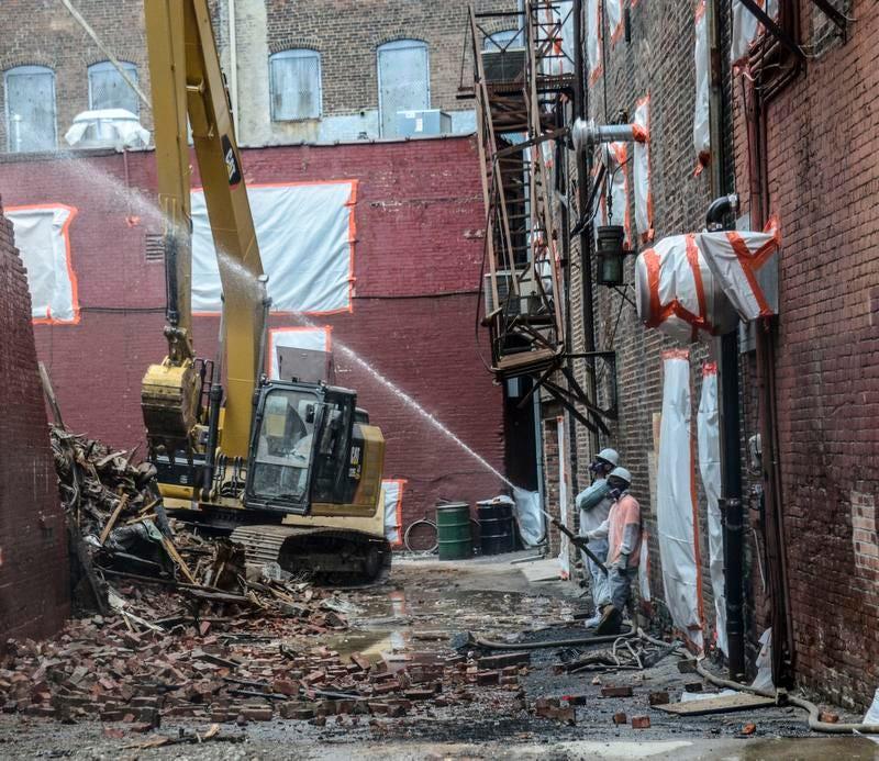 Crews From Peak Environmental Start Major Demolition On The Historic Ellis  Brothers Location On 162 Water