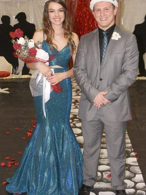 Danielle Staats and Hunter Huber are the Pratt High School 2020 Winter Homecoming queen and king.