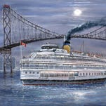 Highland Township artist James Williams' oil paintings of landmarks will be presented in Detroit and Beyond: Landmarks Past and Present, in the Huron Valley Council of the Arts February exhibit.