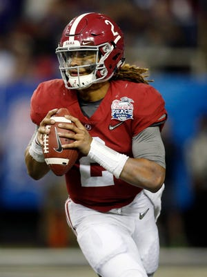 Alabama Crimson Tide quarterback Jalen Hurts.