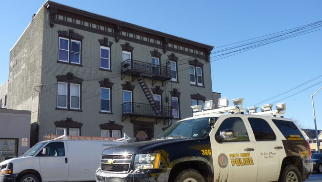 The apartment building on Fayette Street in Perth Amboy where a 13-year-old girl was exposed to carbon monoxide and later died.