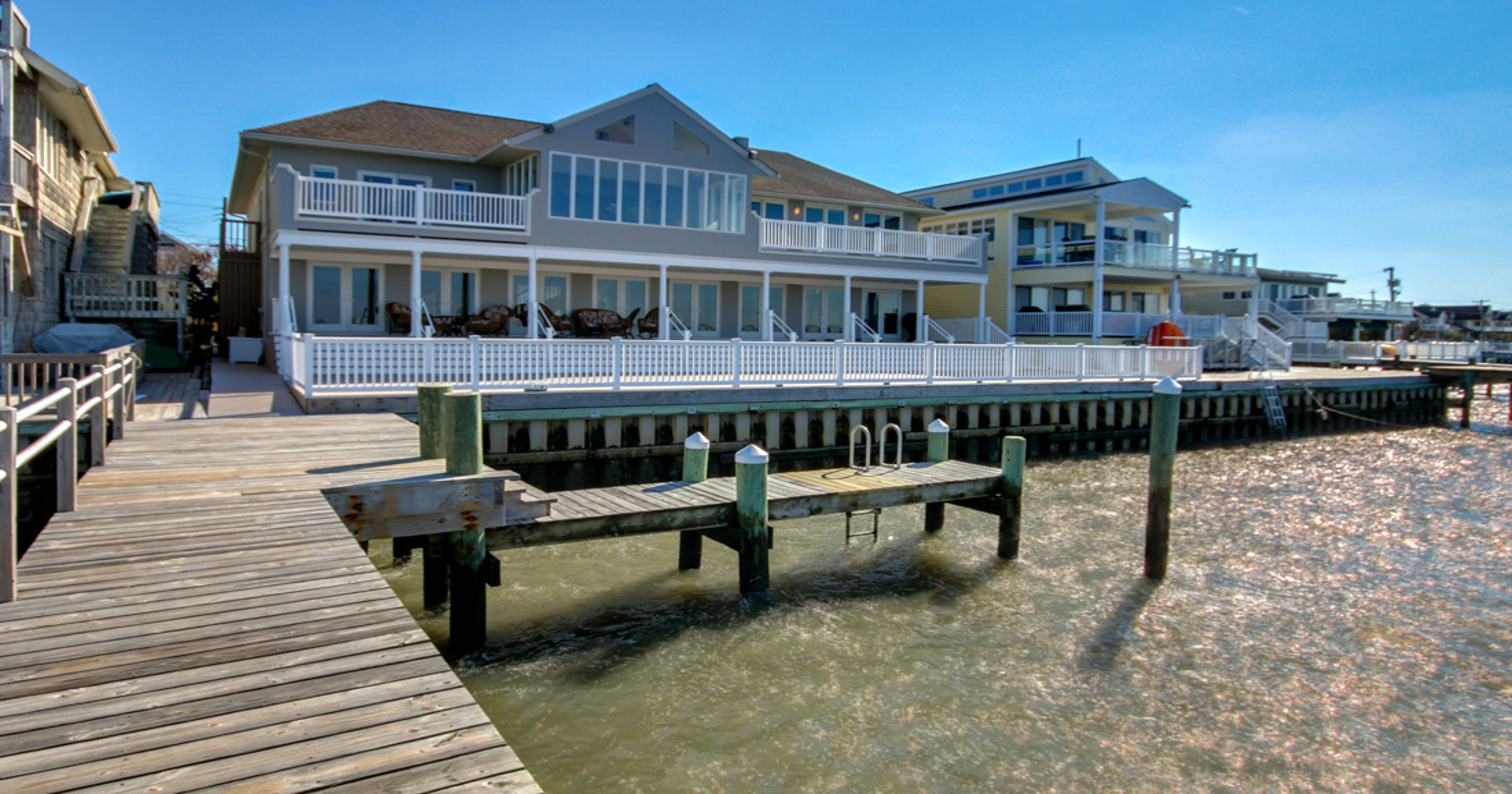 Waterfront Mansion In Cape May County