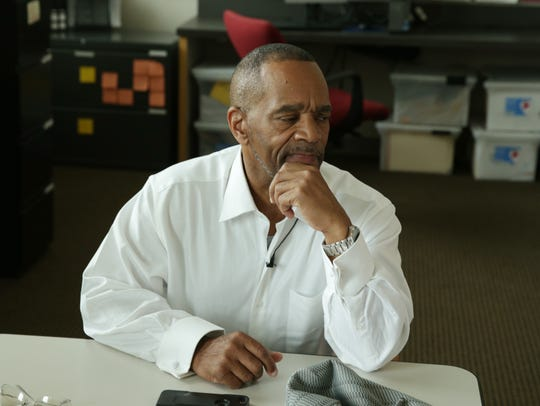 Darryl Pinkins met with journalists at IUPUI on June