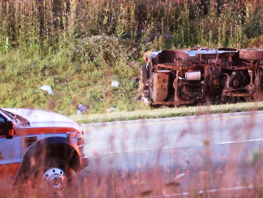The driver of a Jeep Wrangler was killed in a single-vehicle