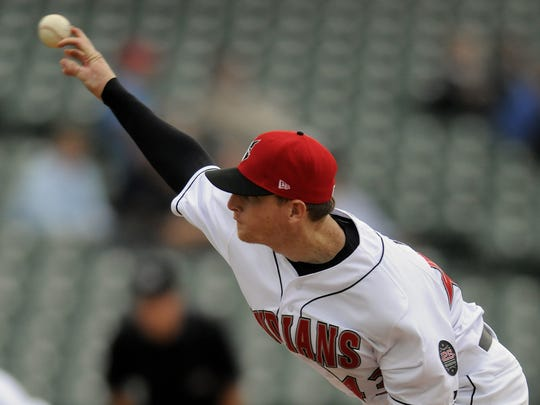 Indians pitcher Tim Wood helped pitch the TRibe to victory, as the Indianapolis Indians defeated the  Norfolk Tides, 7 to 6 at Victory Field.  Wednesday April 27, 2011.