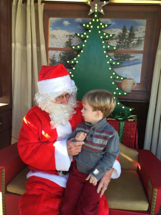 Santa and Ethan Thomason
