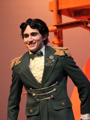 """Andrew Boone, a Wylie High School graduate, is Grasshopper in """"James and the Giant Peach,"""" which concludes a two-weekend run with performances Friday and Saturday at the Williams Performing Arts Center on the Abilene Christian University campus."""
