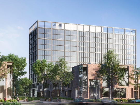 A rendering of a new development coming to the Lafayette Park neighborhood of Detroit.
