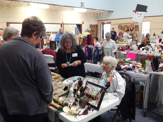 Holiday decorations abounded at the Glad Tidings Church's