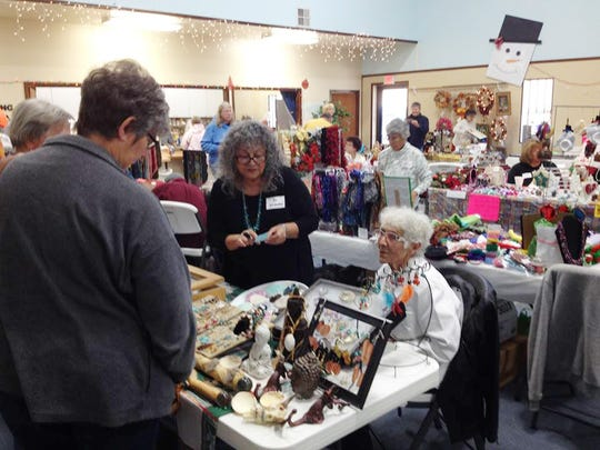 Holiday decorations abounded at the Glad Tidings Church's 11th annual Holiday Bazaar on Friday.