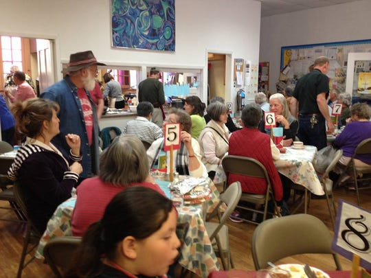 Visitors to the 111th annual bazaar at the Episcopal Church of the Good Shepherd on Saturday enjoyed brunch as well as shopping.