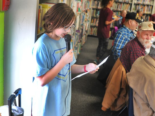 Sheppard Elementary, 4th-grade student, Hannah Wikon
