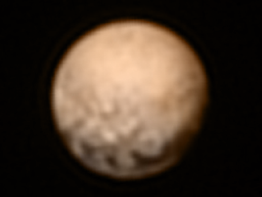 New images, color movie show Pluto details
