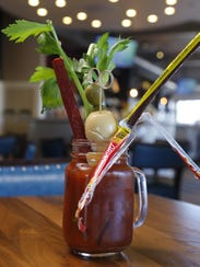"""One of the """"DIY"""" Bloody Mary's at The Hash Kitchen"""
