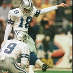 Former NFL kicker Chris Boniol (18) will be named as Louisiana College's newest assistant Friday.