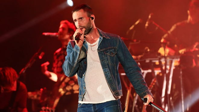 Maroon 5, fronted by Adam Levine, will perform at the BMO Harris Bradley Center Monday.