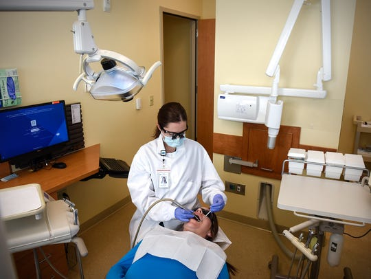 Dental Therapist Kassie Scott works at the HealthPartners