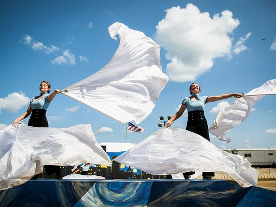 Jay County High School competes during Band Day at