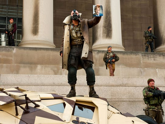 """Tom Hardy appears as Bane in """"The Dark Knight Rises."""""""