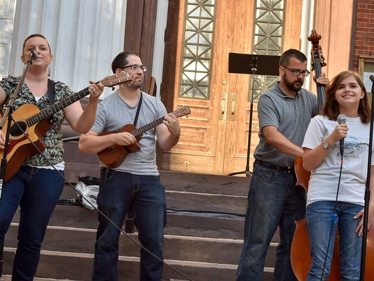 The Country Bumpkins perform in the final round of