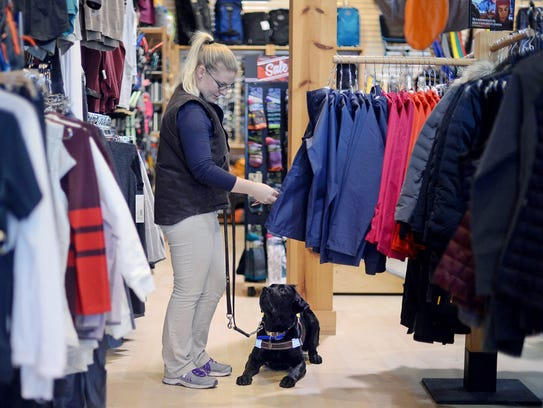 Guide Dog Mobility Instructor Ashley Ayers, of Leader
