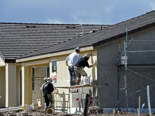 Housing construction in the Damonte Ranch area on March