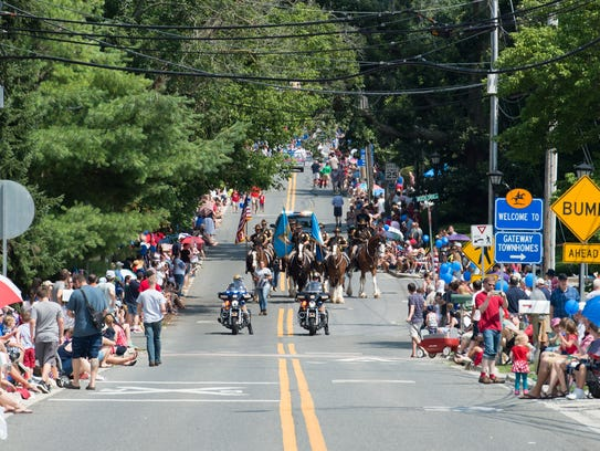 Start of the Hockessin Fourth of July parade.