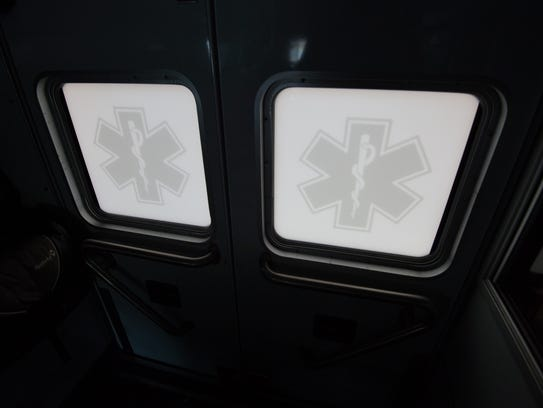 View from inside the ambulance at Volunteer Hose Company,
