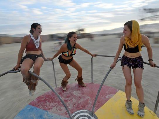 Laurel Heller, left, Krista Lockwood and Courtney Ives
