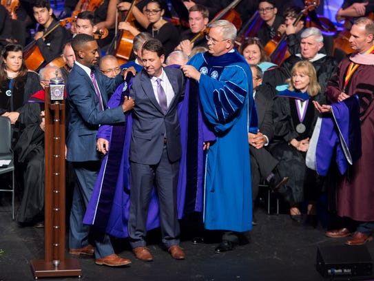 Chris Maggio was formally invested as the 19th president