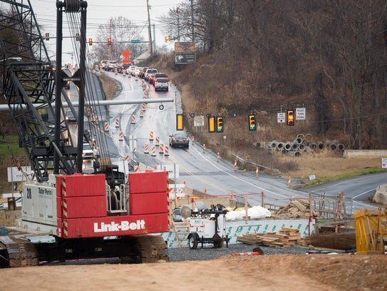 Crews have been working on the makeover of the I-83/Mount