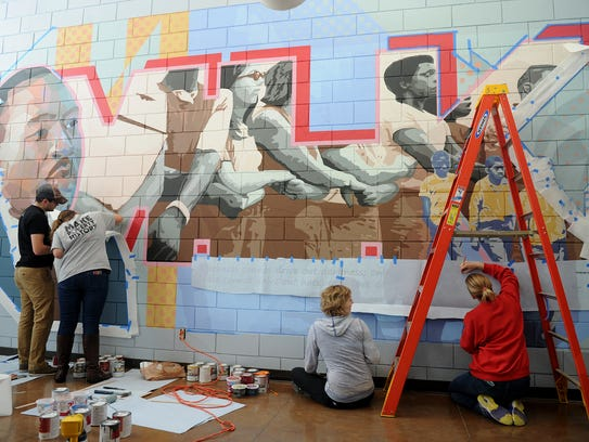 Volunteers continue to work on the Martin Luther King