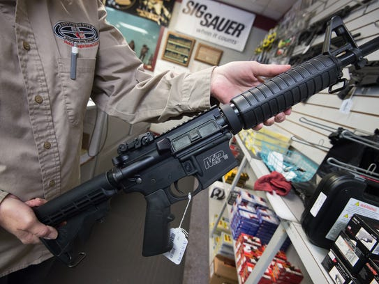 Semi-automatic rifles such as the AR-15 are under fire