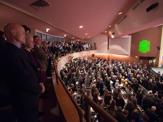 Funeral mass, at Archmere Academy, in celebration of