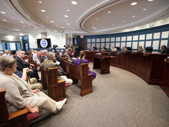 Members of the Sussex County Council voted 3 to 2 against
