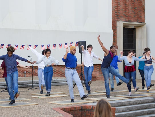 Northwestern State students perform dances and learn