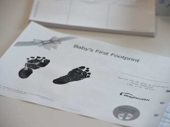 View of a print out that parents would receive after