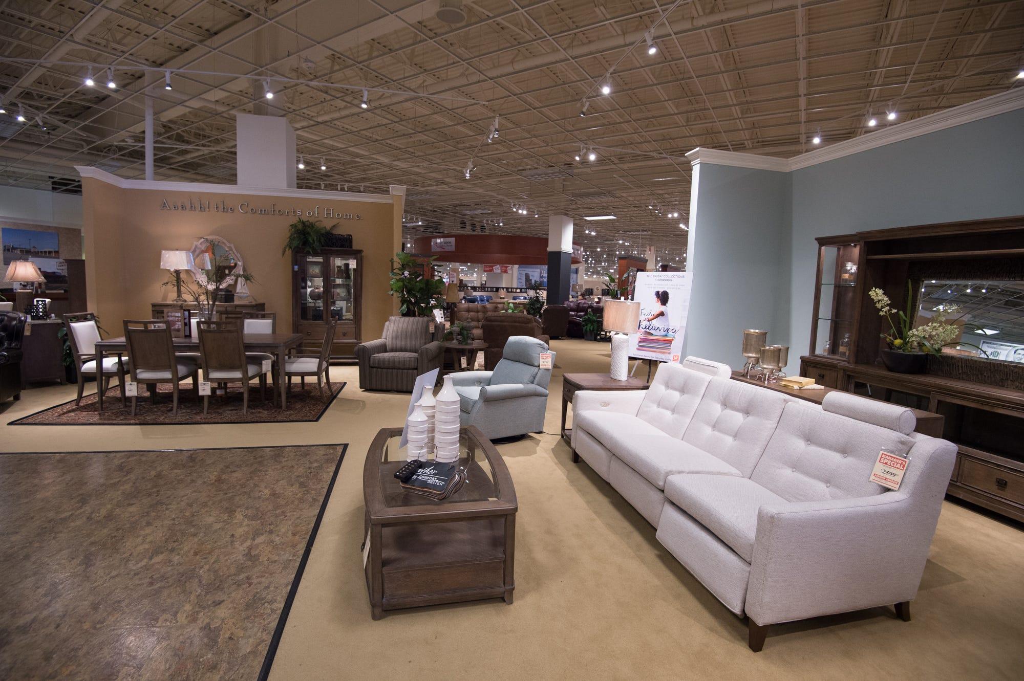 The Johnny Janosik World Of Furniture Showroom In Laurel