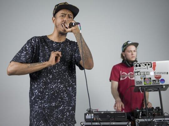 """Diop Adisa (left), and producer/DJ Nicholas """"Mandog"""""""