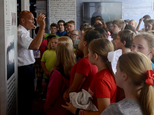 Retired FDNY Battalion Chief Jack Oehm teaches students