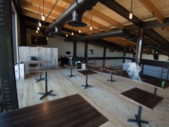 View of the second floor seating at the new Dogfish