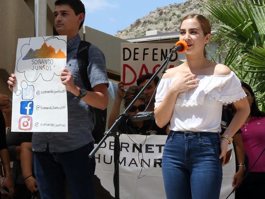 Melissa Martinez, a UTEP student and DACA recipient,
