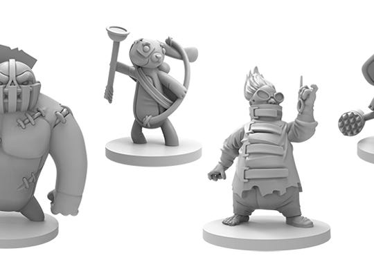 The game includes 23 finely detailed miniatures. These will look fantastic with some paint on them.