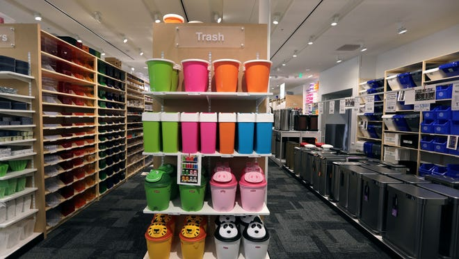 Look for containers of all types at The Container Store in Troy, which opens on Saturday. Jessica J. Trevino